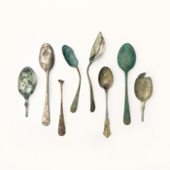 Teaspoons, 19th-20th century, all found on beaches