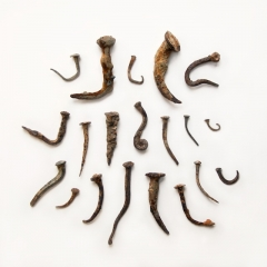 Hand-forged nails from the Thames,  c. 16-18th century