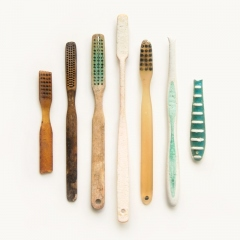 Toothbrushes: bone, vintage plastic and modern combination plastics