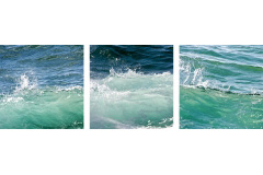 Three Turquoise Waves